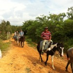 horse back riding in the Valle del Silencio